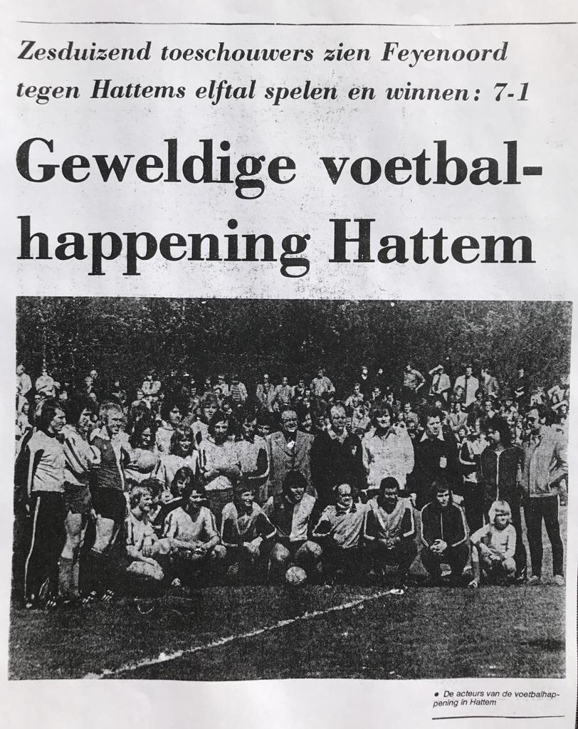 Feyenoord wint met 7 -1 van Hattems elftal