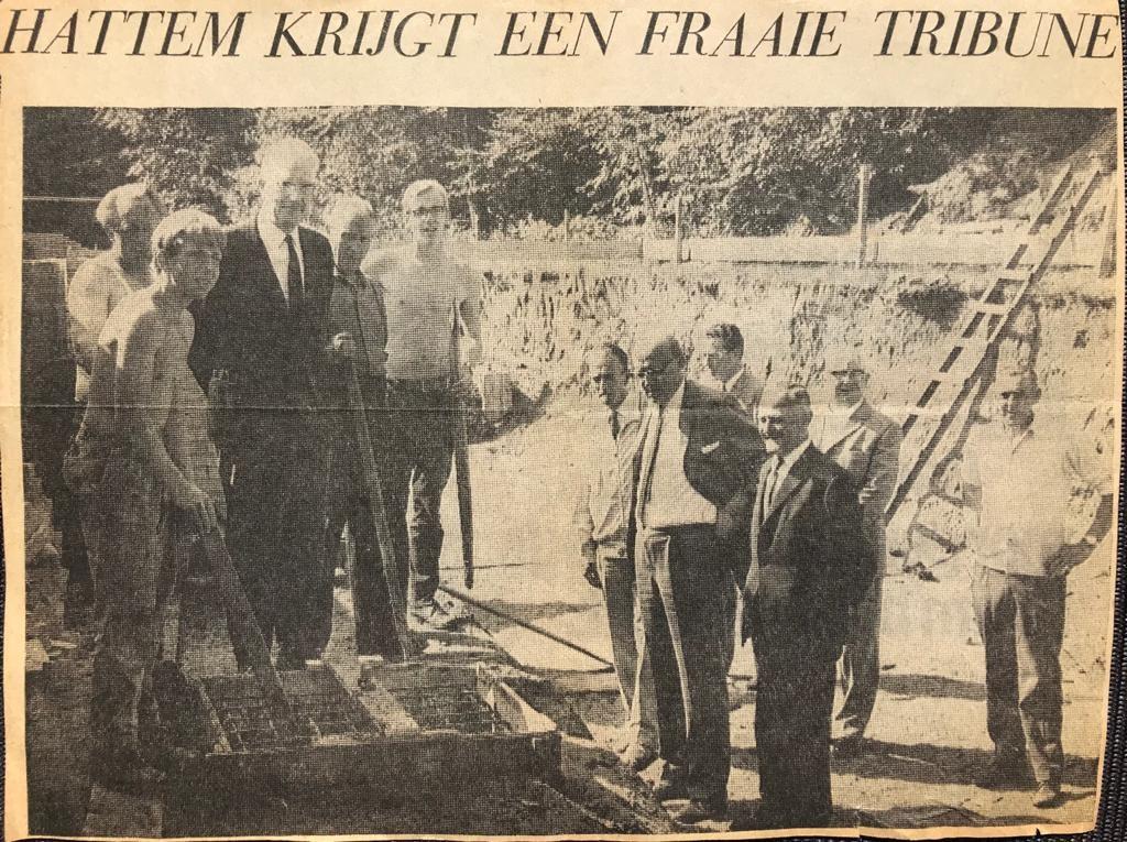 51 jaar geleden was de tribune in aanbouw