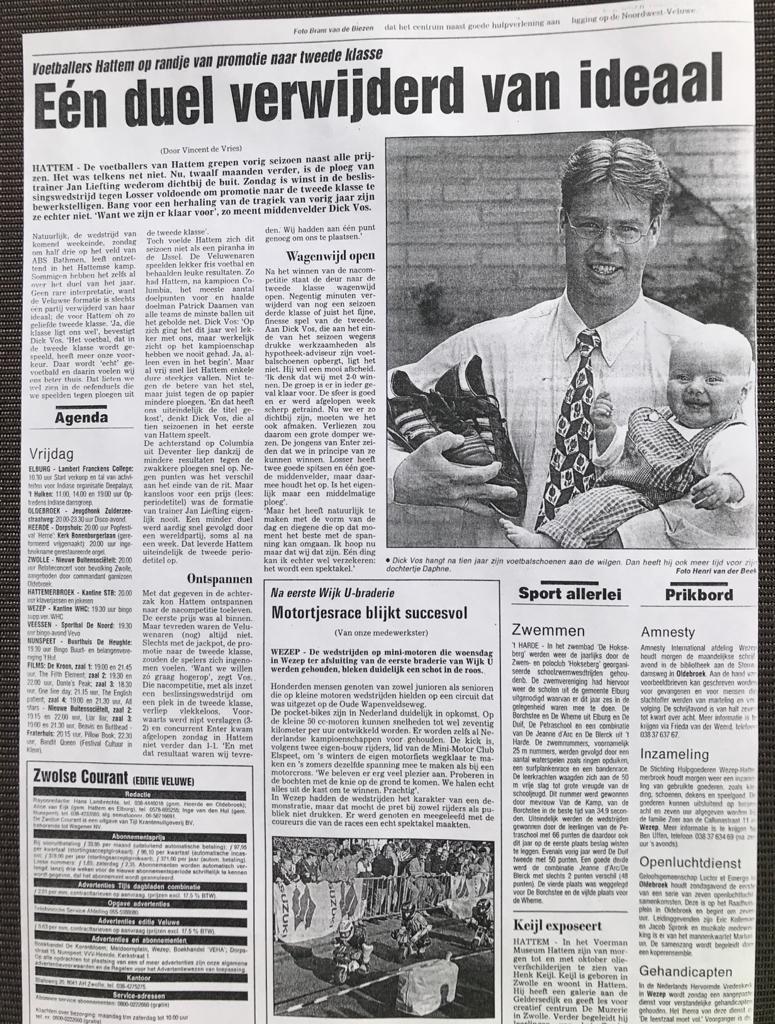 Dick Vos kijkt vooruit op promotieduel en zijn afscheid
