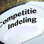 Competitie indelingen zijn bekend !