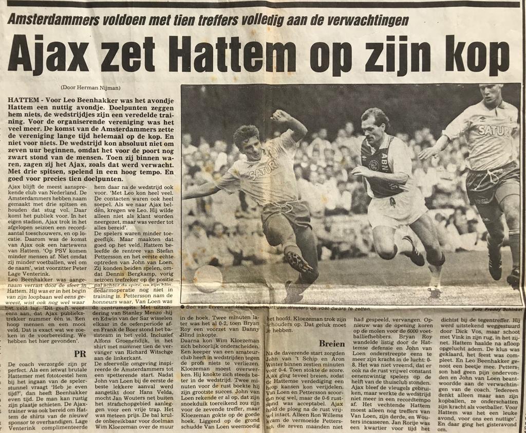 Ajax zet heel Hattem op zijn kop