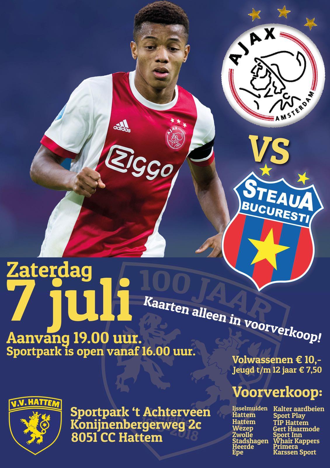 Ajax en Steaua te gast bij v.v.Hattem