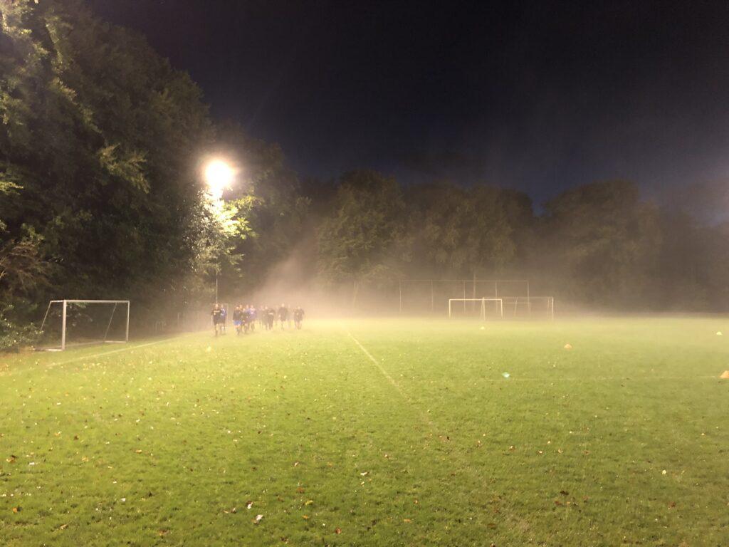 Een trainingsavond is soms ongewoon mooi......