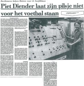 Piet Diender en zijn pilsje